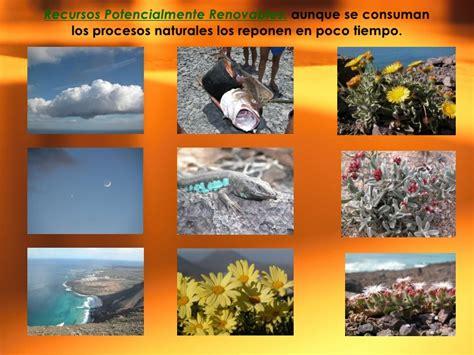 Recursos  Renovables, No renovables y Potencialmente ...
