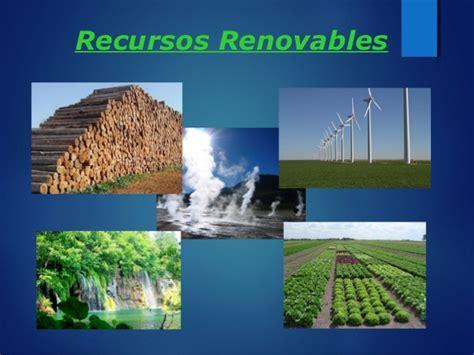 Recursosos renovables