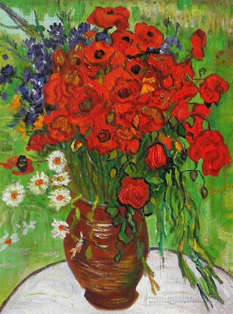 Red Poppies and Daisies   Vincent van Gogh Paintings