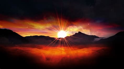 Red Sunrise. Worship Motion Background Stock Video Footage ...