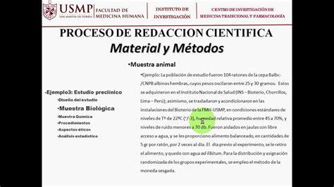 REDACCIÓN DE MATERIALES Y MÉTODOS DE UN ARTÍCULO DE ...