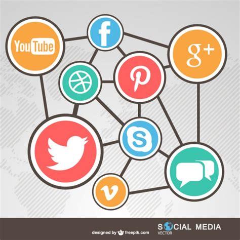 Redes sociales conectadas   Descargar Vectores gratis