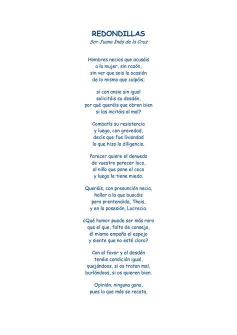 Redondillas de Sor Juana Inés de la Cruz | Frases y poemas ...
