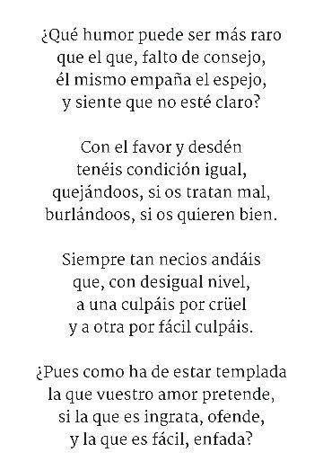 REDONDILLAS   Poema 2/4 Sor Juana Inés de la Cruz | Frases ...