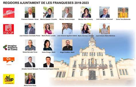 Regidors a l Ajuntament de les Franqueses durant la ...