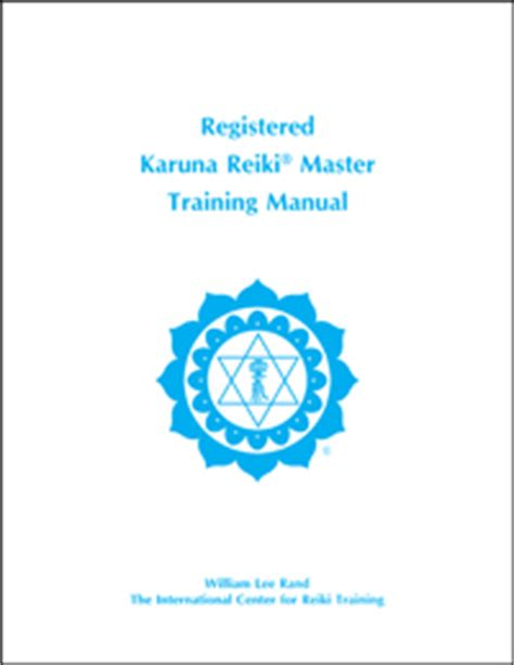 Registered Karuna Reiki Master Manual   Reiki Webstore