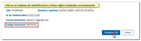 Registro en Cl@ve por Internet con CSV previa solicitud de ...