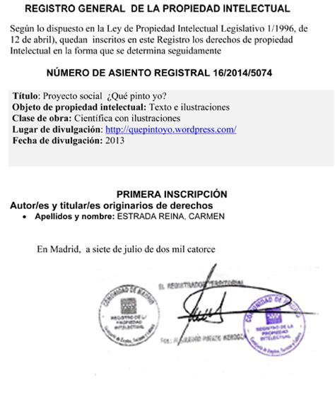 REGISTRO GENERAL–DE LA PROPIEDAD INTELECTUAL 1