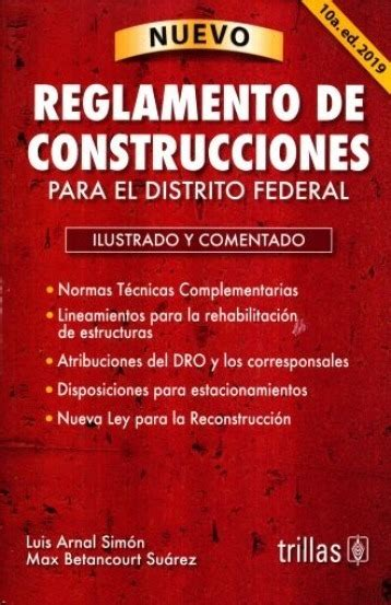 Reglamento De Construcciones Para El Df 2019 Arnal Don86 ...