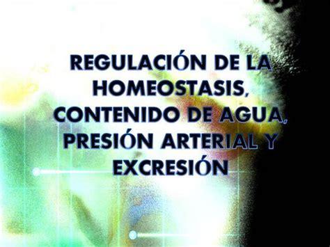 REGULACIÓN de la HOMEOSTASIS, CONTENIDO de AGUA  authorSTREAM