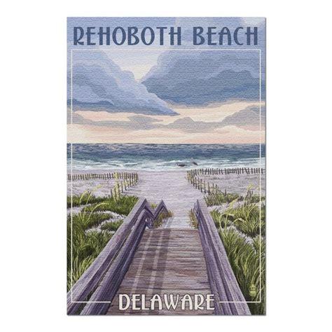 Rehoboth Beach, Delaware   Beach Boardwalk Scene  20x30 ...