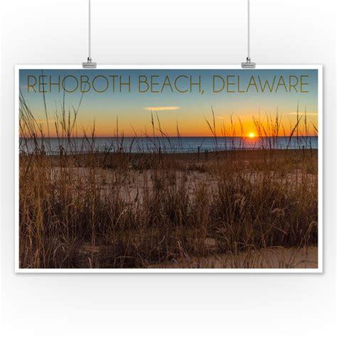 Rehoboth Beach, Delaware   Beach & Sunrise   Lantern Press ...