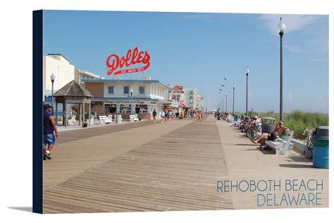 Rehoboth Beach, Delaware   Boardwalk   Lantern Press ...