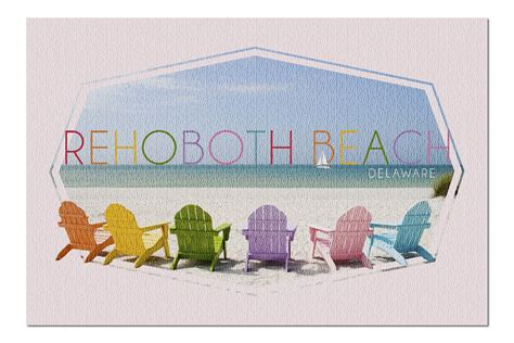 Rehoboth Beach, Delaware   Colorful Beach Chairs 107228 ...