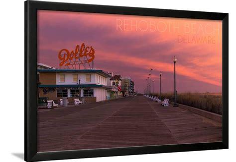 Rehoboth Beach, Delaware   Dolles and Sunset Framed Print ...