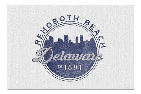 Rehoboth Beach, Delaware   Skyline Seal  Blue   20x30 ...