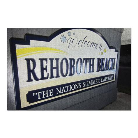 Rehoboth Beach, Delaware   Welcome Sign  20x30 Premium ...