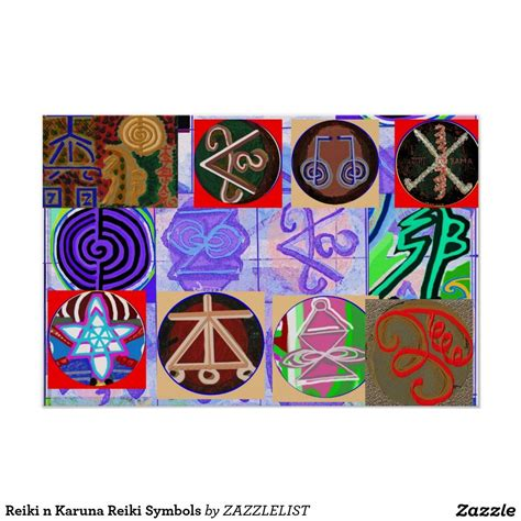 Reiki n Karuna Reiki Symbols Poster | 101 Zazzle PRO ...