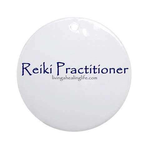 Reiki Practitioner purple Ornament  Round  by healinglife