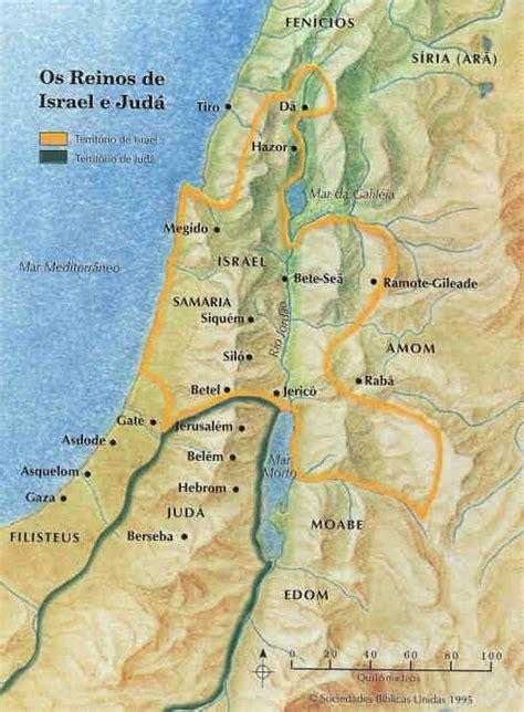 Reino de Davi e Salomão: Israel e Judá   Mapas Bíblicos