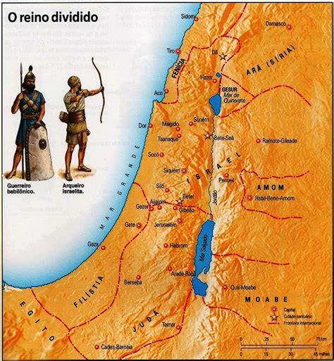Reino dividido de Israel e Judá   Mapas Bíblicos