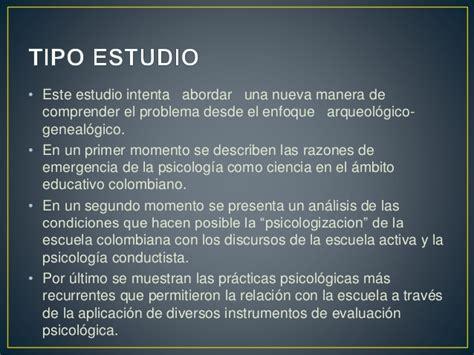 Relaciones entre Psicologia y Educacion en colombia
