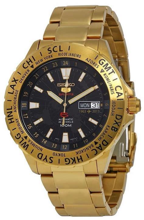 Reloj Seiko 5 Sports Análogo Dorado Automático Srp440