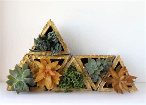Remodelaholic | DIY Modular Geometric Concrete Planters