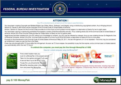 Remove Fake FBI Moneypak Scam Without Paying Fine ...