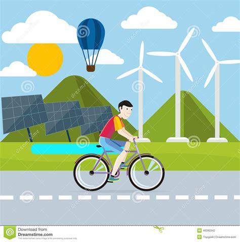 Renewable Energy Concept. Solar And Wind Energy Stock ...