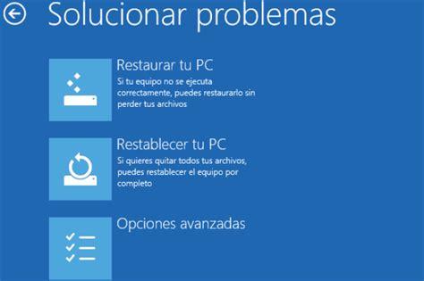 Reparar Windows 10 si falla o no arranca