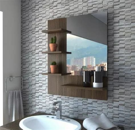 Repisa De Baño Mueble Espejo Moderno Minimalista Aereo ...