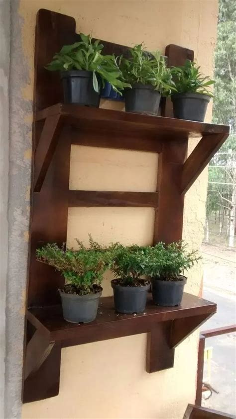 Repisas para el jardín, como hacer repisas para plantas ...