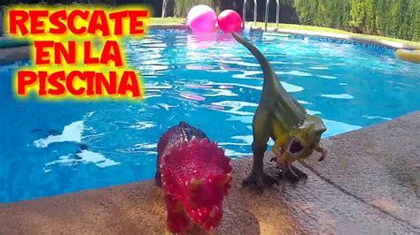 Rescate a los dinosaurios en la piscina con red   Vídeos ...
