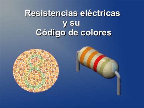 Resistencias Eléctricas y Código de Colores