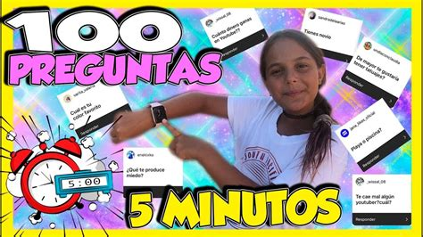 RESPONDI 100 PREGUNTAS EN 5 MINUTOS RESPONDIENDO PREGUNTAS ...