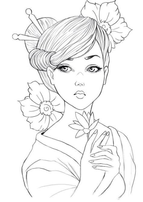 Resultado de imagen de dibujos GEISHAS para colorear ...