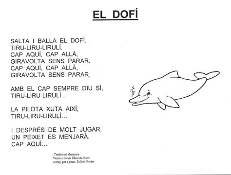 Resultado de imagen de poesia el dofi per a infantil | Poesía
