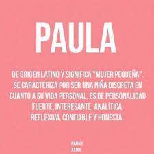 Resultado de imagen de significado del nombre maria paula ...