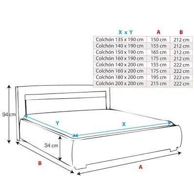 Resultado de imagen para cama medidas | MEDIDAS DE MUEBLES ...