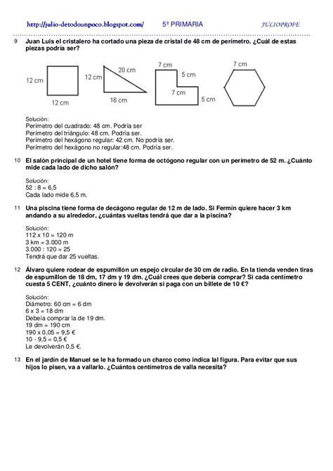 Resultado de imagen para problemas de areas y perimetros ...