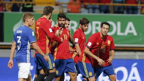 Resultado España   Liechtenstein  8 0  | Clasificación ...
