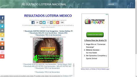 RESULTADO LOTERIA NACIONAL 4 DE NOVIEMBRE   YouTube