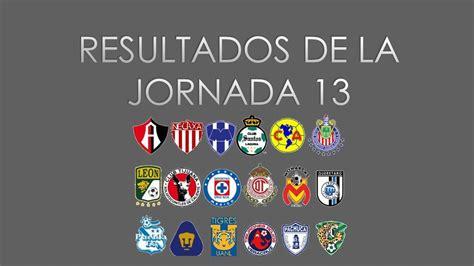 Resultado y Tabla General jornada 13 futbol mexicano ...