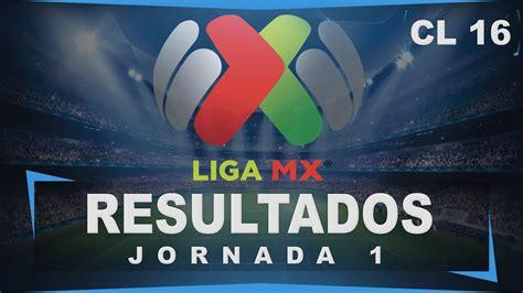 Resultados Jornada 1│Clausura 2016│Tabla General│Liga MX ...
