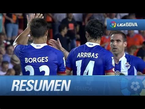 Resumen de Valencia CF  1 1  Deportivo de la Coruña   YouTube