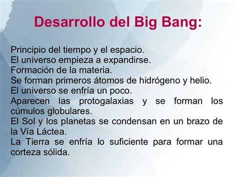 Resumen Teoría Big Bang