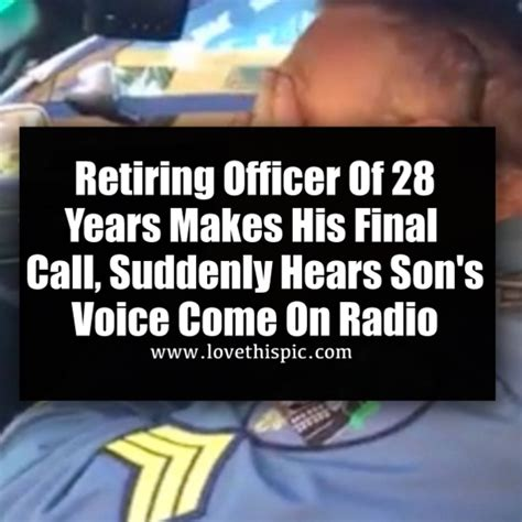 Retiring Officer Of 28 Years Makes His Final Call ...