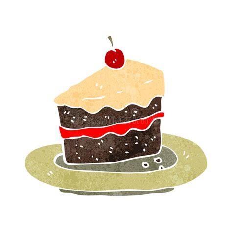 Retro Cartoon Slice Of Cake Stock Illustration ...