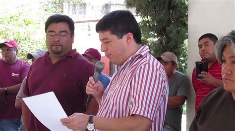 Reunión de información sobre obra publica en San Pablito ...
